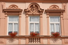 Beautiful old windows royalty free stock photography