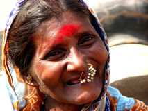 Beautiful Old Woman. A very beautiful old Indian woman Stock Images