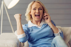 Beautiful old woman Royalty Free Stock Images