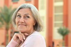 Beautiful old woman Stock Photos