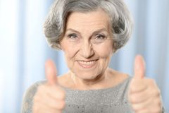 Beautiful old woman royalty free stock photography