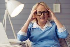 Beautiful old woman Stock Photo