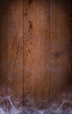 A beautiful old wooden background with smoke Stock Photography