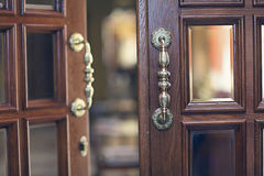 Beautiful old wooden door Royalty Free Stock Photos