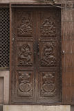 Beautiful old Wooden Door in KATHMANDU, NEPAL Royalty Free Stock Image