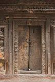Beautiful old Wooden Door in KATHMANDU, NEPAL Stock Images