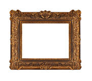 Beautiful old wooden frame. With lots of ornaments Stock Photo