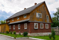 Beautiful old wooden log house Stock Image
