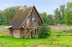 Beautiful old wooden log house Royalty Free Stock Image