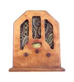 Beautiful old wooden radio Stock Photo