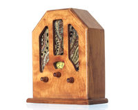 Beautiful old wooden radio Stock Image