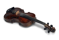 Beautiful old wooden violin Royalty Free Stock Images