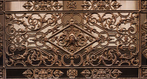 Beautiful  old wrought-iron grille Stock Images