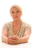 Beautiful older woman stock photos