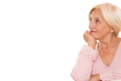 Beautiful older woman Stock Image