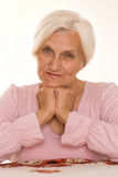 Beautiful older woman Royalty Free Stock Photos