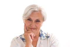 Beautiful older woman royalty free stock image