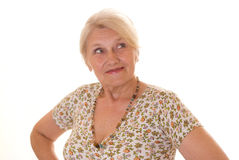 Beautiful older woman Stock Images