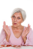 Beautiful older woman Stock Photography