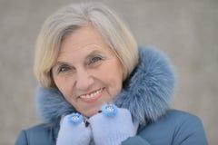 Beautiful older woman Stock Photo