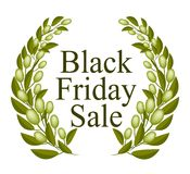 A Beautiful Olive Wreath for Black Friday Sale Stock Image