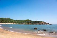 Beautiful Om Beach Gokarna, India. Beautiful Om Beach with yellow sand - Gokarna Karnataka India Royalty Free Stock Photo