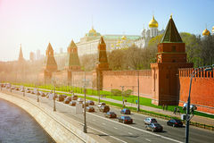 Beautiful, Onion-Domed Structures of the Kremlin in Moscow, Russ Royalty Free Stock Images