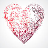 Beautiful openwork heart. Stock Image