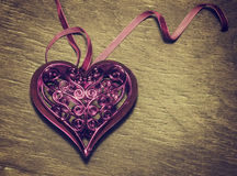 Beautiful openwork heart. Stock Photography