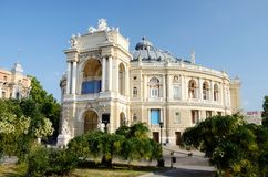 Beautiful Opera and Ballet House in Odessa, Ukraine,famous landm Stock Photos