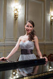 Beautiful opera singer in the concert hall Royalty Free Stock Images