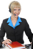 Beautiful operator in the office. Stock Image