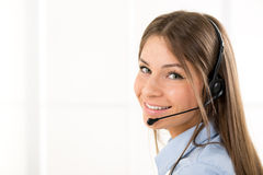 Beautiful Operator Royalty Free Stock Photo