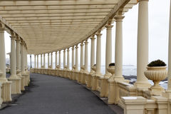 Beautiful Oporto pergola by the sea Royalty Free Stock Image