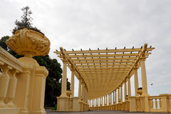 Beautiful Oporto pergola by the sea Royalty Free Stock Photo