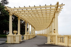 Beautiful Oporto pergola by the sea Royalty Free Stock Photos
