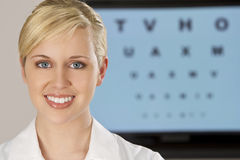 Beautiful Optician Royalty Free Stock Photos
