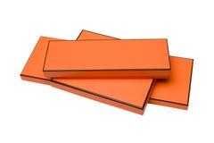 Beautiful orange boxes. On white background Stock Photography