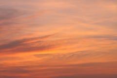 Beautiful orange cloudscape Stock Photo