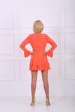 Beautiful orange dress Stock Images