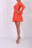 Beautiful orange dress Stock Photography