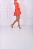 Beautiful orange dress Stock Photo