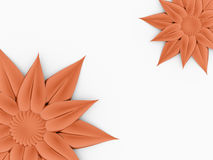 Beautiful orange flower concept rendered Royalty Free Stock Image