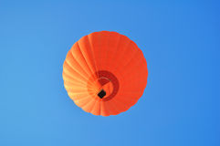Beautiful orange hot air balloon Royalty Free Stock Image