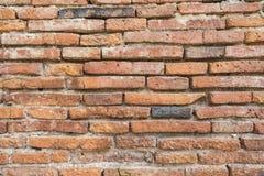 Beautiful orange patterned brick walls. Royalty Free Stock Photo