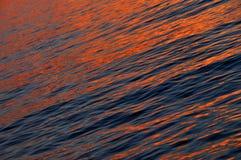 Beautiful orange sea sunset Stock Images