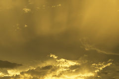 Beautiful Orange Sky On Sunset Royalty Free Stock Photos
