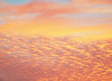 Beautiful orange sky textures Royalty Free Stock Images