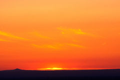 Beautiful orange sunset Royalty Free Stock Photography