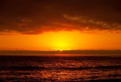 Beautiful orange sunset Stock Images